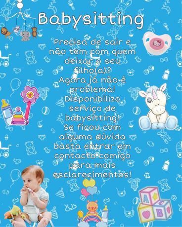 Faço Babysitting na zona do Porto
