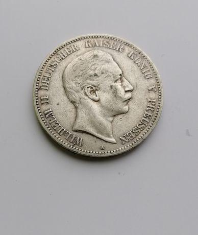 Монета 5 марок, 1903. Німецька імперія, Пруссія, Вільгельм II. СРІБЛО.