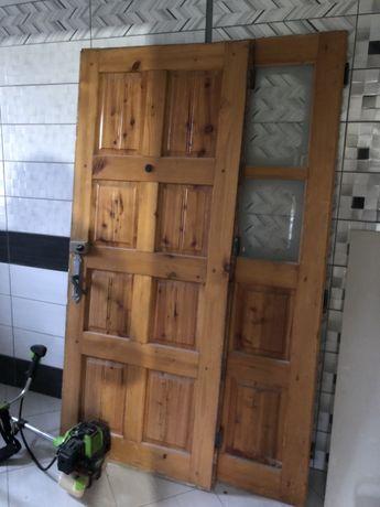 Двері дхідні двойні дерев'яні входние дверь дерево
