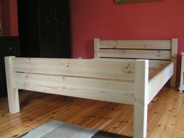 Nowe drewniane łóżko sosnowe 160x200