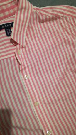 Camisa rosa às riscas da GANT