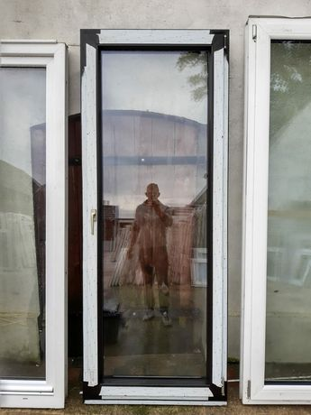 Nowe drzwi balkonowe brąz brązowe dowóz