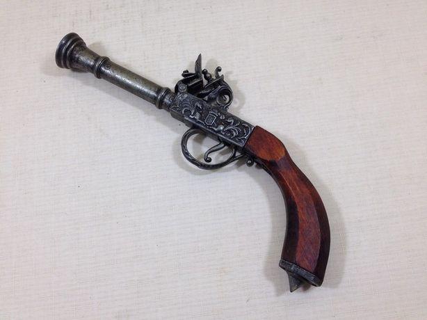 Pistolet skałkowy kolekcjonerski, garłacz, marynistyka