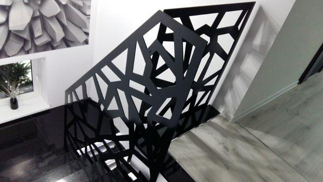 Balustrada wycinana, samonośna - blacha wycinana laserowo, barierka