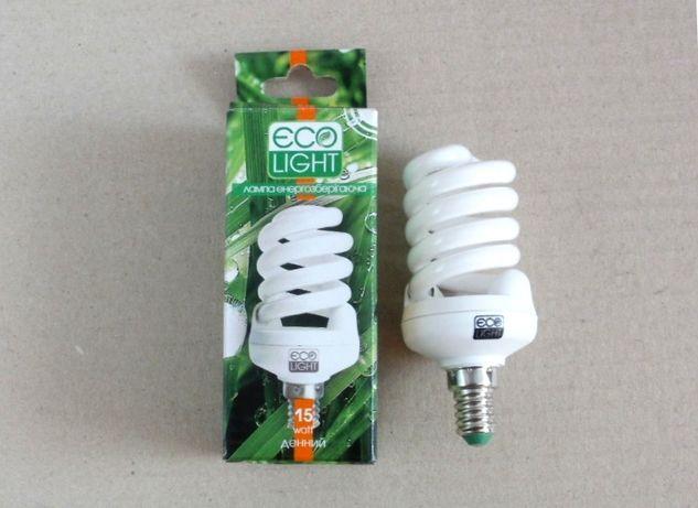 Лампа энергосберегающая, Ecolight 15 W / 15 Вт Е14 4000К новая