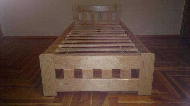 -Łóżko sosnowe IWONA V wysokie