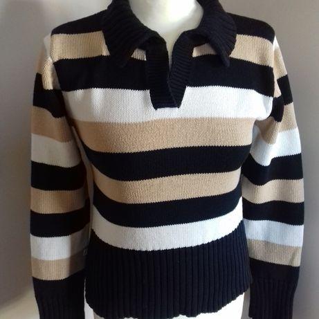 Sweter w paski rozmiar M