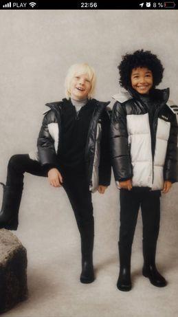 Zara!Новая коллекция !Теплая куртка с металлическим блеском  116-164см