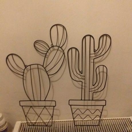 Kaktusy kaktus do powieszenia nowe 2 szt