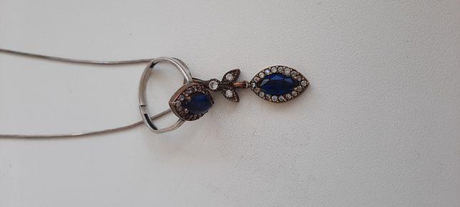 Кольцо,цепочка с кулоном 925проба