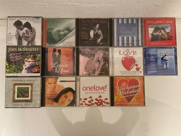 14 CD com compilações de sucessos musicais românticos