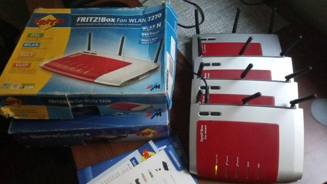 Fritz!Box 7270 4 szt, router, voip, wifi