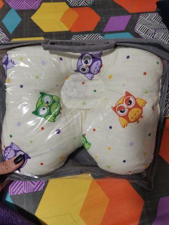 Ортопедическая подушка для новорождённых и до года