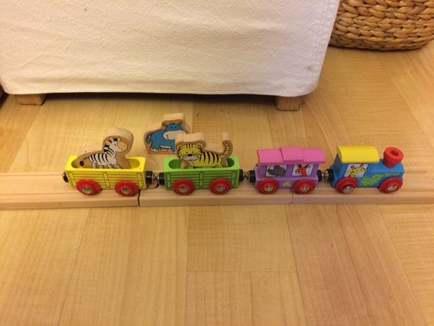 Drewniana kolejka pociąg SAFARI plus tory