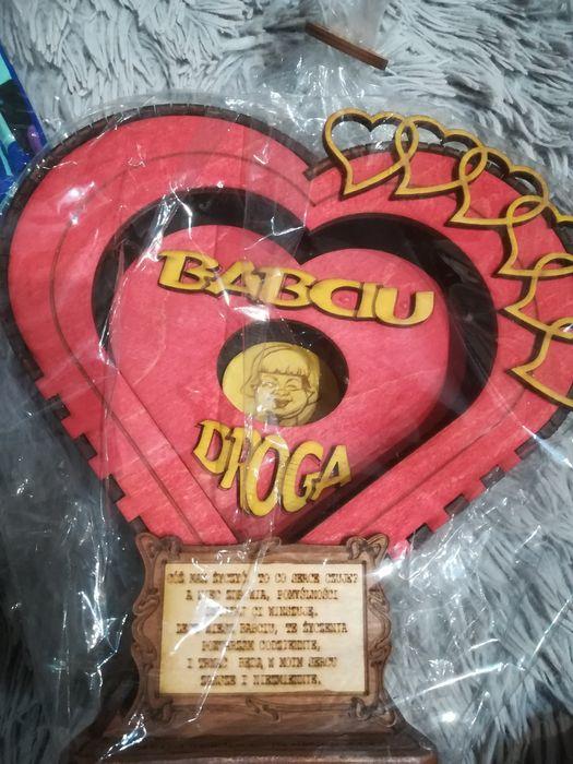Drewniane serce ,świetny prezent dla ukochanej babci:) Szczecinek - image 1