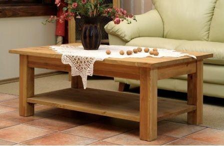 Stolik kawowy, ława drewniana, stolik woskowany do salonu