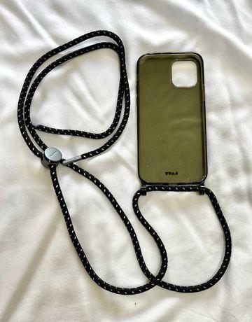 Capa iPhone 12/12 PRO com fio ajustável - LAUT - Crystal-X NECKLACE