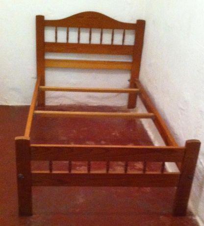 cama de solteiro pinho mel