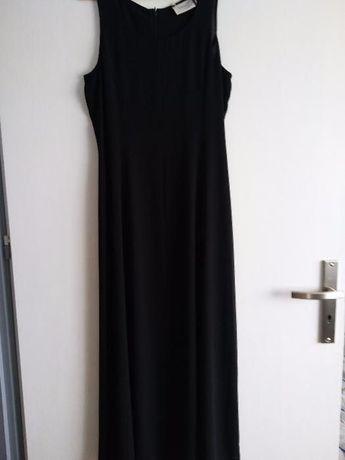 Czarna długa sukienka , zwiewna i elegancka 36