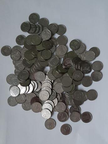 Монеты Украины 1, 2, 5 копеек, больше 500 штук