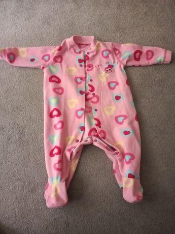 Piżama dziecięca, pajacyk polarowy ciepły 74
