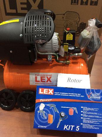 Компрессор LEX 50 л 2 цилиндра двухцилиндровый 3.3 кВт 430 л/м ГАРАНТИ