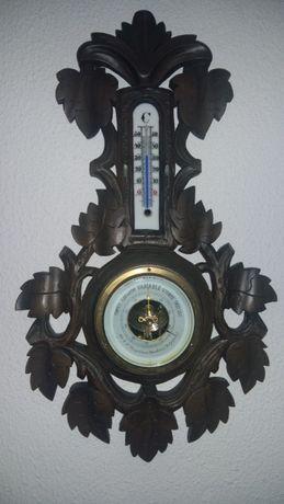 Barómetro /termómetro antigo troco/cuco