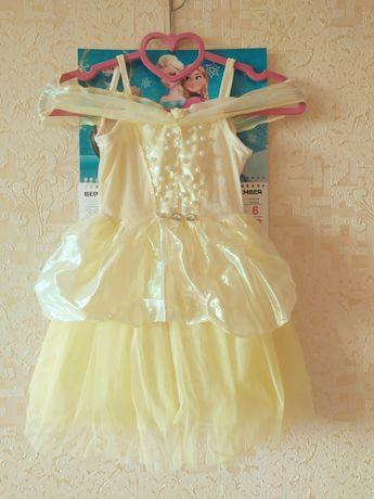 Сукня, платье жолтое 104
