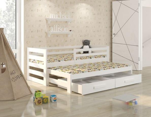 Podwójne łóżko białe dla dzieci KUBI! dostawa w 10 dni! Jakość Premium