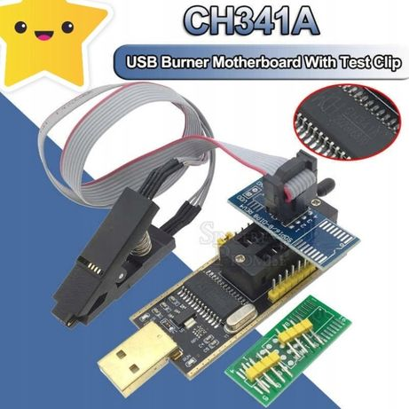 Programator CH341A 24 25+ SOP8 Test klip adapter