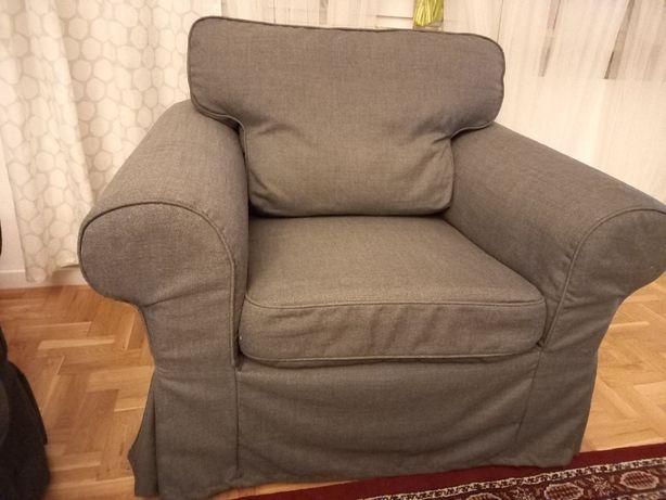 Fotel EKTROP, IKEA, szary