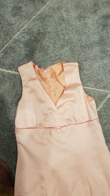 Sukienka brzoskwiniowa długa rozmiar s 36
