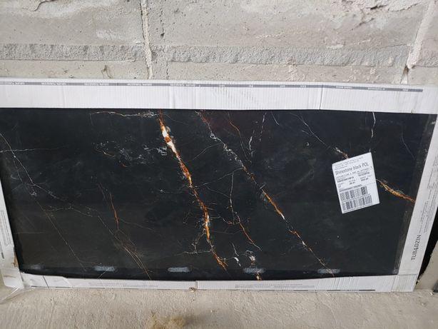 Gres Tubądzin Shinestone Black gat I 120x60 119,8x59,8 1,43m2