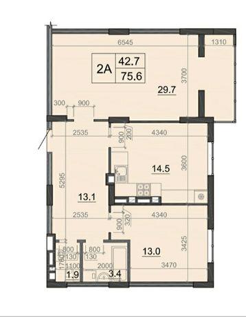 Двокімнатна квартира з виглядом на РАГС!