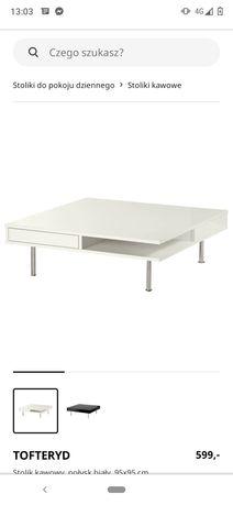 Ikea Tofteryd stolik kawowy biały