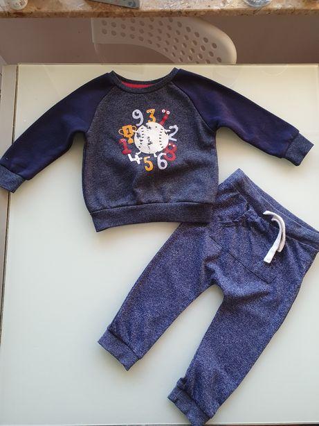Super dresy dres spodnie bluza chłopięca 80 cm!