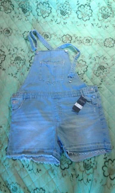 Продам модные шорты-комбинезон, джинсовые, новые. ...европ.размер 48