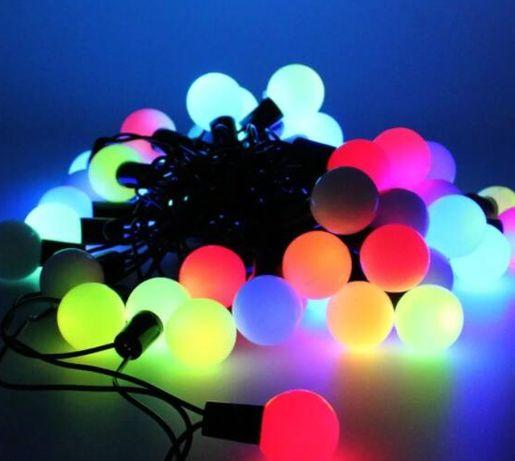 Гирлянда 40 LED шарики