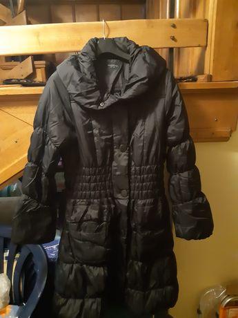 Kurtka Reserved 38 dluga zimowa damska czarna płaszcz