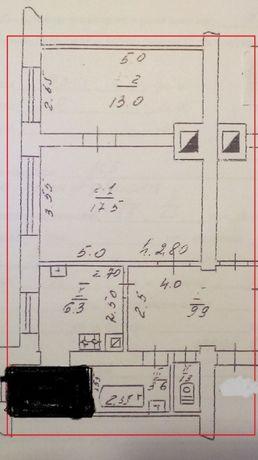 Продам две комнаты в коммунальной 4-комнатной квартире. Район ДОС