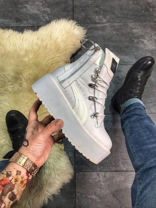 "Ботинки Puma X Fenty by Rihanna Sneaker Boot ""White"" | женские пума Киев - изображение 1"
