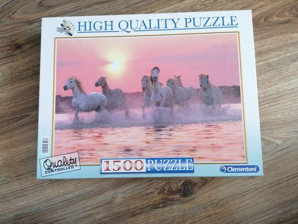 Puzzle 1500 elementów konie