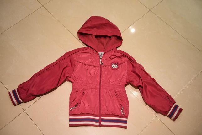 Cudna kurtka dla dziewczynki z kotkiem 98-104 CM 4 LATA