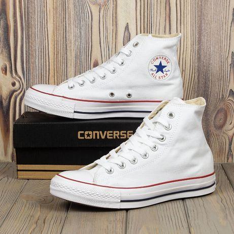 Кеды Converse All Star белые высокие 36-44