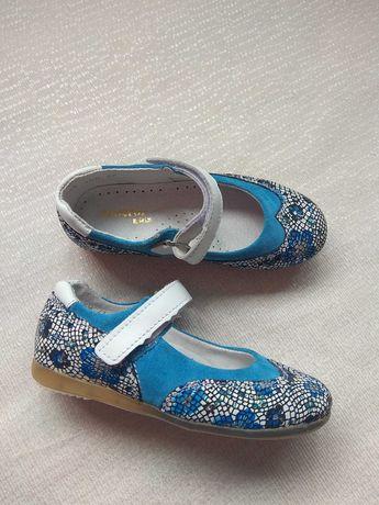 Кожаные туфли на девочку Bistfor,шкіряні туфлі мешти шкіра,туфли кожа