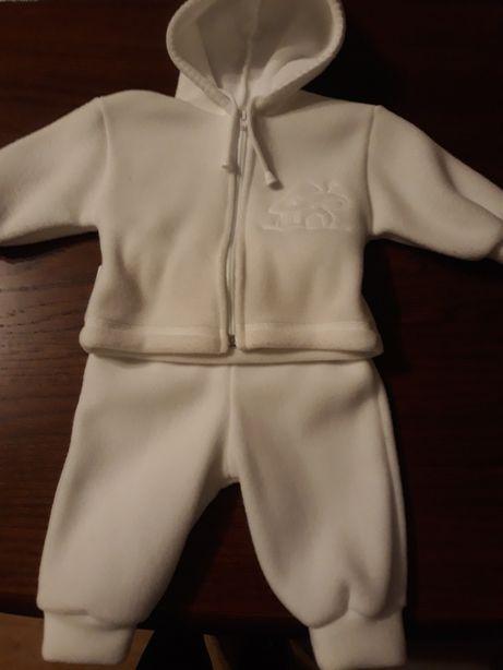 Komplet na chrzciny dla chłopca śnieżno- biały ubranko uroczystość