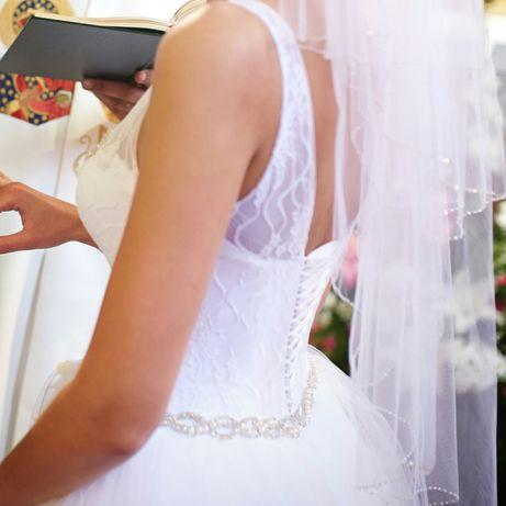 Suknia ślubna Arianne 36-38 biała 175cm