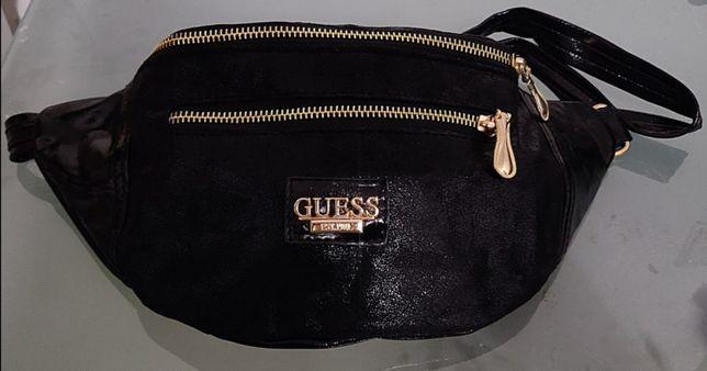 Nowa nerka Guess saszetka suwaki zlote torebka