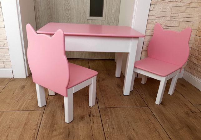 Stolik i 2 krzesełka kotek