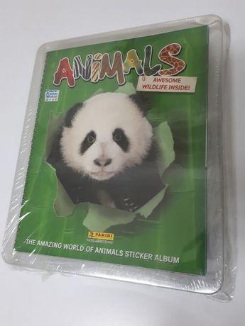 Caderneta de cromos O incrível mundo dos animais Colecção completa